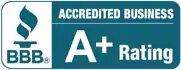 BBB Accredited Business A+ Rating badge