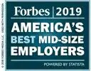 Forbes 2019 America's Best Mid-Size Employers badge