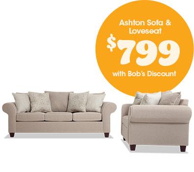Ashton Sofa & Loveseat for $799
