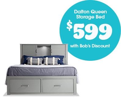 Dalton Queen Storage Bed for $599