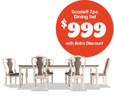 Scarlett 7pc Dining Set for $999