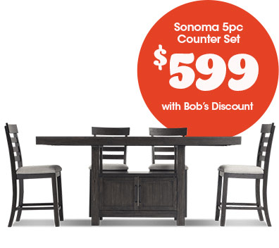 Sonoma 5pc Counter Set for $599