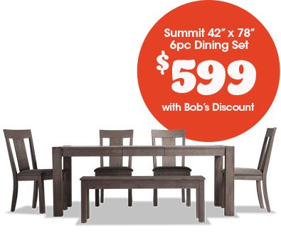 Summit 6pc Dining Set for $599